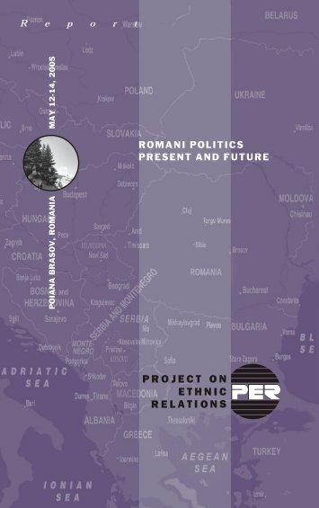 Romani Politics Present and Future - Project on Ethnic Relations