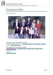 Promotion 2004 - Lycée français international Victor Segalen