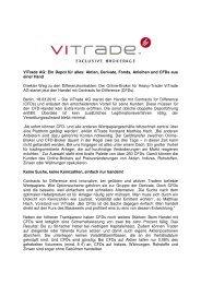 Ein Depot für alles: Aktien, Derivate, Fonds, Anleihen und ... - ViTrade