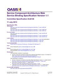 Service Component Architecture Web Service Binding Specification ...