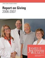 Report on Giving  2006-2007 - University of Rochester Medical Center