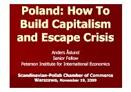 Presentation of Mr. Anders Aslund