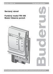 Servisný návod Funkčný modul FM 448 Modul hlásenia ... - Buderus