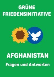 Der Afghanistan-Krieg - Grüne Friedensinitiative