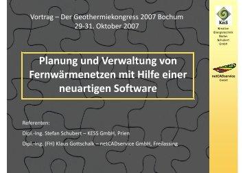 Präsentation Geothermiekongress 2007 Bochum