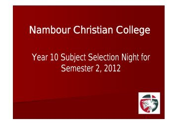 Ncc Calendar Nambour Christian College Events