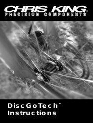 Chris King DiscGoTech Hubs Manual - Spoke N' Word Cycles