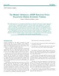 ESOP Employer Stock Valuations During Economic Turmoil