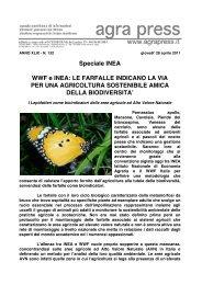 Wwf e Inea: le farfalle indicano la via per un'agricoltura ... - Agrapress