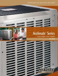 Luxaire Acclimate 8T Series 18+ SEER Heat Pumps from Luxaire ...