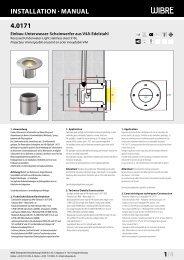 InstallatIon · Manual 4.0171 1/4 - Wibre