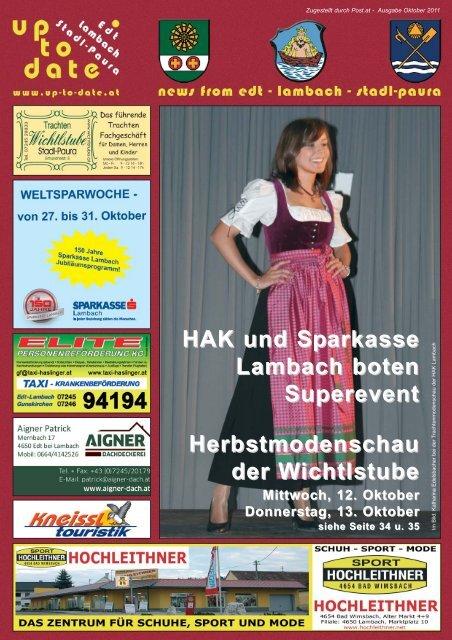 HAK und Sparkasse Lambach boten Superevent - Up-to-date