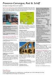 Provence-Camargue, Rad & Schiff - RadelReisen WILKE TOURISTIK