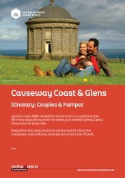 Itinerary: Couples & Pamper - Discover Northern Ireland