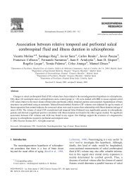 Association between relative temporal and prefrontal sulcal ...