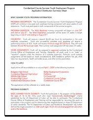 Cumberland County Summer Youth Employment Program ...