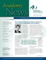 New bylaws clarify Foundation's objectives - Academy of ...