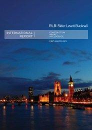 RLB International Report First Quarter 2012 - Rider Levett Bucknall