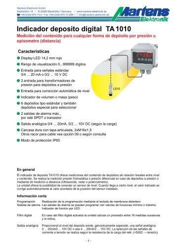 TA1010-V1_30-00- Prospekt - Martens Elektronik GmbH