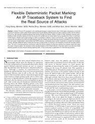 Flexible Deterministic Packet Marking: An IP ... - IEEE Xplore