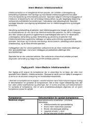 Intern Medicin: Infektionsmedicin Faglig profil - Intern Medicin ...