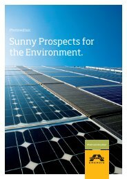 Sunny Prospects for the Environment. - Alpine Energie