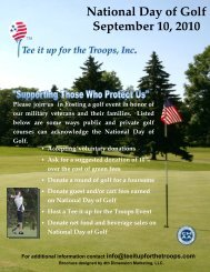 National Day of Golf September 10, 2010 Please join us in hosting a ...