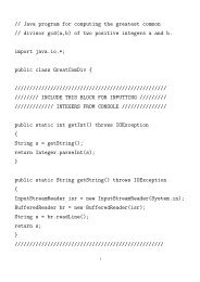 // Java program for computing the greatest common // divisor gcd(a,b ...