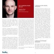 10 TOP 5 MARKETING TRENDS FÜR 2014 Sebastian Hesse PR ...