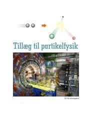 Tillæg til partikelfysik - matematikfysik
