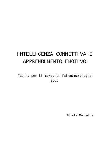 intelligenza connettiva e apprendimento emotivo - Garito.it