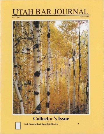 October 1994 Vol. 7 No 8.pdf - the Utah State Bar