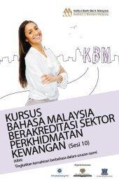 kursus bahasa malaysia berakreditasi sektor perkhidmatan kewangan