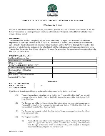 Senior Citizen Property Tax Rebate Application - City Of Fruita