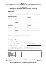 Anlage 1a DMP Brustkrebs Fragebogen zur Erhebung der ...