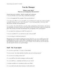 Management Sensitivity - The Counseling Team International