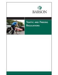 Traffic and Parking Regulations .pdf - Babson College