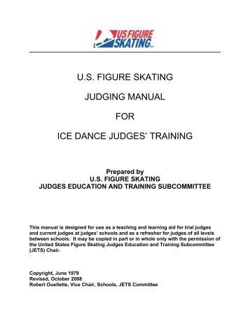 us figure skating judging manual for ice dance judges' training
