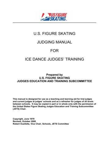 us figure skating judging manual for ice dance judges' training