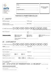NOTICE INDIVIDUELLE I - AGENT II – CONJOINT3 III - ENFANTS ...
