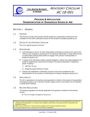 TBD AC 05-001 AMO Certification CAAV [A]2009.fm