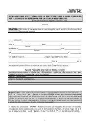 1 dichiarazione sostitutiva per la partecipazione a gara d'appalto per ...