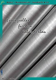 Rohre / Rundmaterial / Handläufe & Co.