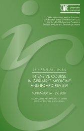 intensive course in geriatric medicine & board ... - GeroNet - UCLA