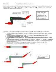 MET 210W Project 1: Design of Bell Crank Mechanism Figure 1 ...