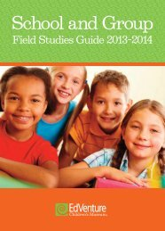 View EdVenture's School and Groups Field Studies Guide