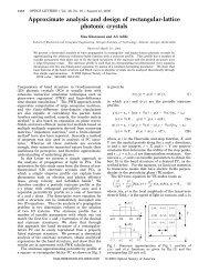 Approximate analysis and design of rectangular-lattice ... - SMARTech