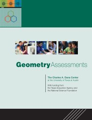 Geometry Assessments - Charles A. Dana Center