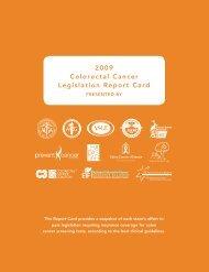 Front 2009 Colorectal Cancer Legislation Report Card - American ...