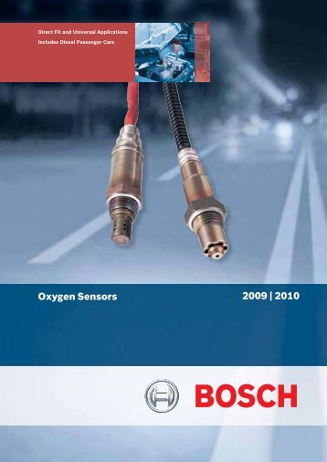 2009 Oxygen Sensor Catalogue - Bosch New Zealand